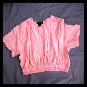 Girls pink crop top.